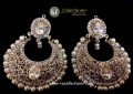 TRADITIONAL LOOK POLKIE & ZIRCON STONES EARRING