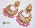 STYLISH TRADITIONAL WITH GOLDEN BASED EARRING