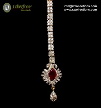 GOLD PLATED WITH ZIRCON STONES INDIAN TEEKA
