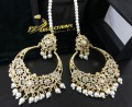 GOLDEN BASED HYDERABADI DESIGN BIG SIZE EARRING