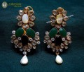GOLD PLATED ZIRCON WITH SEMI STONES EARRING