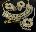 TRADITIONAL LOOK POLKIE STONES NECKLACE SET
