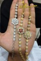 GOLD PLATED ZIRCON WITH SEMI PRECIOUS STONES INDIAN CHAIN BRACELET