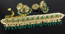 HYDERABADI DESIGN GOLDEN BASED GULUBAND SET