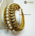 TRADITIONAL LOOK GOLDEN BASED INDIAN BRACELET