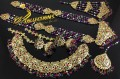 HYDERABADI DESIGN SEMI PRECIOUS STONES NAURATAN BRIDAL SET