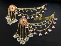BEAUTIFUL DESIGN GOLDEN BASED 3 LAYER SAHARA MATCHING JHUMKI