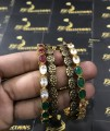 Gold Plated Indian Antique touch BANGLES with Zircon Stones