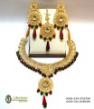 TRADITIONAL LOOK WITH COLOUR CRYSTAL NECKLACE SET