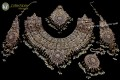 TRADITIONAL LOOK POLKIE STONES COMPLETE BRIDAL SET