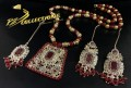TRADITIONAL LOOK POLKIE & SEMI PRECIOUS STONES MALA NECKLACE SET