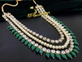 GOLDEN BASED KUNDAN STONES 3 LAYERS MALA