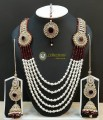 TRADITIONAL LOOK WITH GOLDEN BASED NECKLACE SET