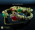 DECENT LOOK GOLD PLATED WITH SEMI PRECIOUS STONES BRACELET