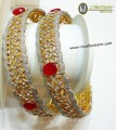DECENT LOOK GOLDEN BASED 2 PIECES BANGLE