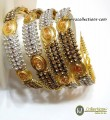 DECENT LOOK GOLDEN BASED 4 PIECES BANGLE