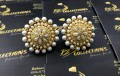 Traditional Look Golden Based Pearl Studded Stylish TOPS