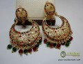 STYLISH TRADITIONAL POLKIE WITH GOLDEN BASED EARRING