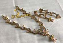 Fine Quality Zircon Gold Plated NECKLACE SET