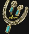 Golden Based NECKLACE SET with Kundan and Semi Precious Stones