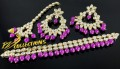 GOLDEN BASED KUNDAN STONES FINE QUALITY GULUBAND SET