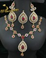 GOLD PLATED ZIRCON STONES NECKLACE SET