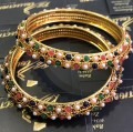 Golden Based Nauratan Pearl BANGLES