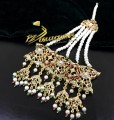 GOLDEN BASED HYDERABADI DESIGN WITH SEMI PRECIOUS STONES JHOOMER