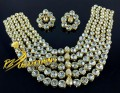 BEAUTIFUL DESIGN FINE QUALITY 5 LAYERS KUNDAN HEAVY SET