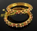 TRADITIONAL LOOK NAURATAN 2 PIECES BANGLE