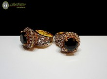 GOLD PLATED ZIRCON WITH SEMI STONES RING