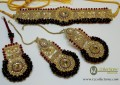 TRADITIONAL LOOK WITH GOLDEN BASED GAJRA BEATS NECKLACE SET