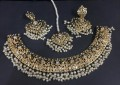 HYDERABADI DESIGN GOLDEN BASED NECKLACE SET