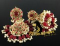 TRADITIONAL LOOK GAJRA BEATS HEAVY LOOK JHUMKI