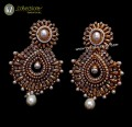 STYLISH TRADITIONAL LOOK GOLDEN BASED INDIAN EARRING