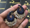 Fine Quality Gold Plated Zircon & Semi Precious Stones Indian EARRINGS