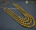 GOLDEN BASED METAL BALLS 4 LAYERS MALA