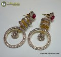 STYLISH GOLD PLATED WITH ZIRCON INDAIN EARRING