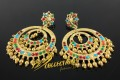 BEAUTIFUL DESIGN SEMI PRECIOUS STONES NAURATAN BALI EARRING