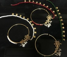 TRADITIONAL STYLE WITH POLKIE STONES NOSE RING
