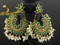 GOLDEN BASED KUNDAN LOOK EARRING