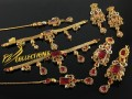GOLD RHODIUM PLATED ZIRCON STONES GULUBAND SET