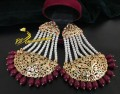 HYDERABADI DESIGN GOLDEN BASED LONG EARRING