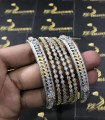 Gold Plated Indian Zircon 6 Pieces BANGLE SET