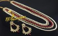BEAUTIFUL DESIGN GOLDEN BASED KUNDAN STONES LONG MALA SET