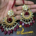Golden Based EARRINGS With Kundan Stones
