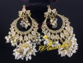 HYDERABADI DESIGN GOLDEN BASED GAJRA BEATS JHUMKI