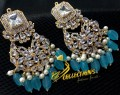 Golden Based With Zircon Stones Bali EARRINGS