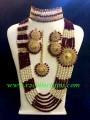 STYLISH GOLDEN BASED WITH 7 LAYERS COMPLETE BRIDAL SET
