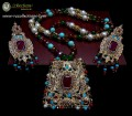 TRADITIONAL LOOK POLKIE & SEMI PRECIOUS STONES LONG MALA NECKLACE SET